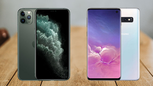 galaxy s10 vs iphone 11