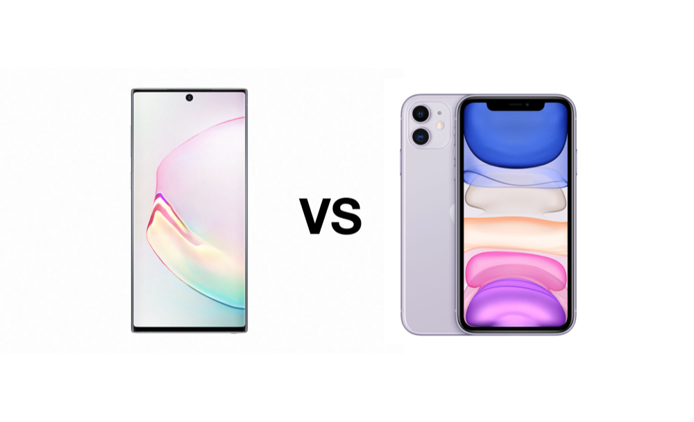 note 10 vs iphone 11