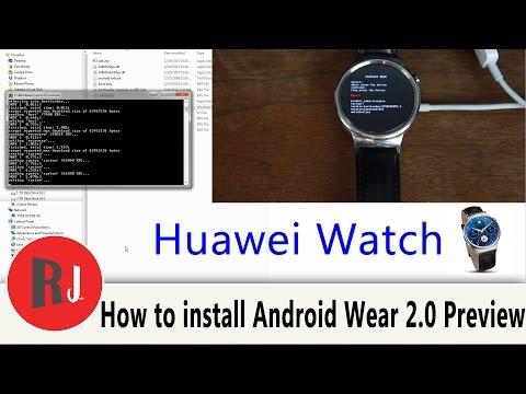 how to update huawei watch